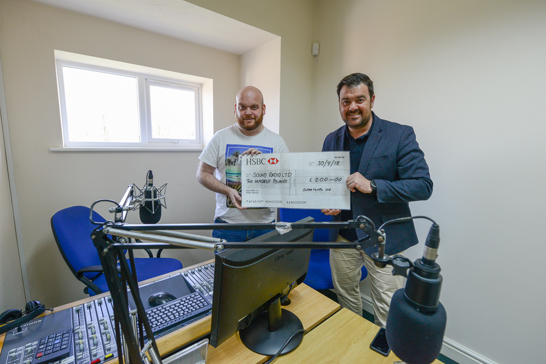 Supertemps show their support to the future of Sound Radio Wales