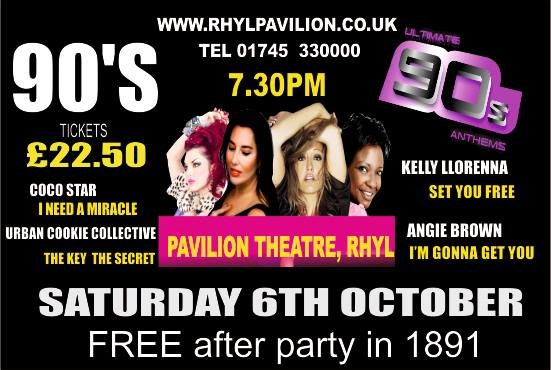 WIN tickets to Ultimate 90's Anthems at the Rhyl Pavilion Theatre