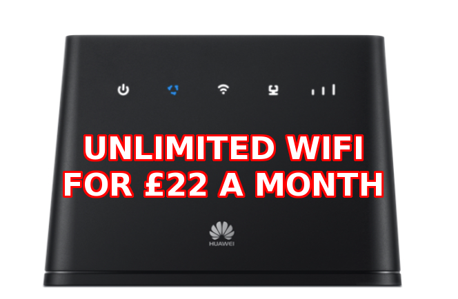 UNLIMTED WIFI in your home for just £22 a month