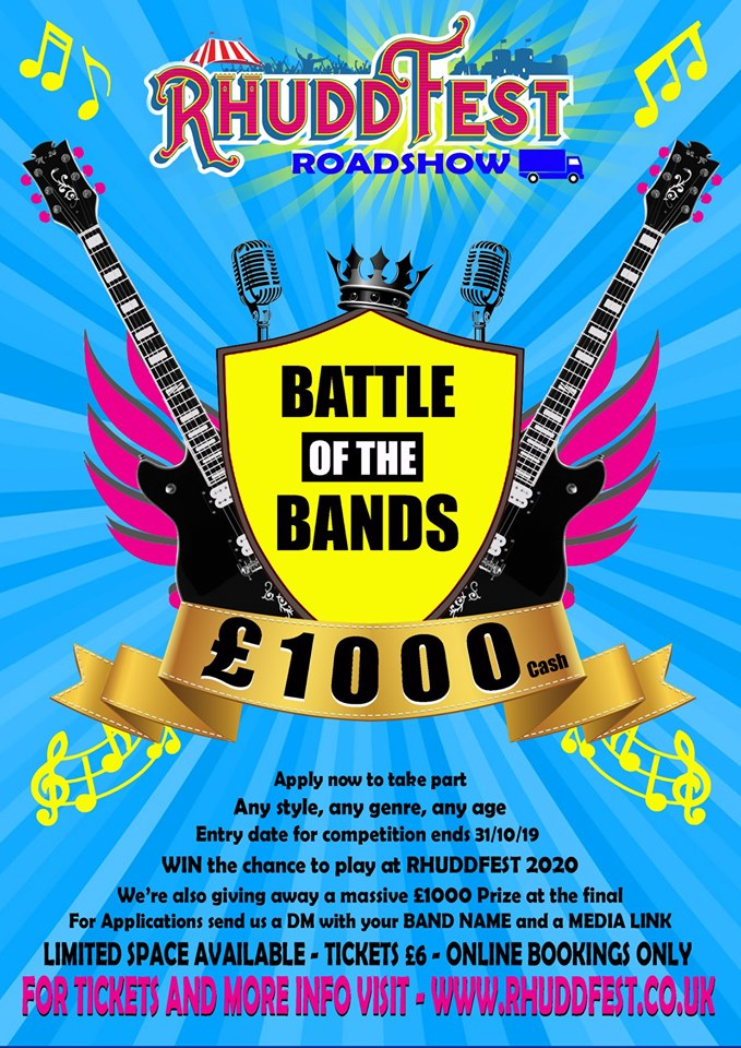 Rhuddfest Roadshow – Battle of the Bands 2019
