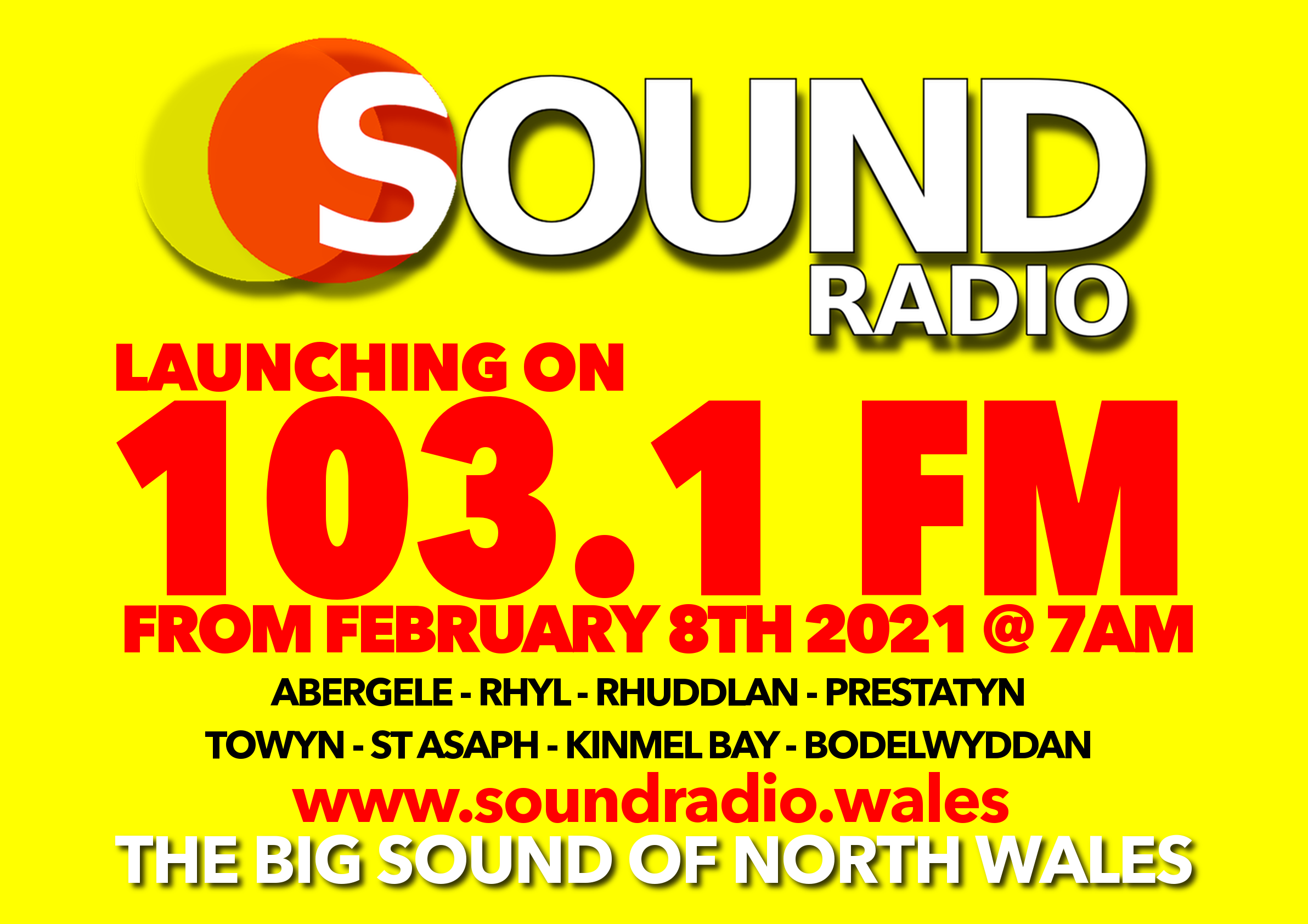 Sound Radio launches on 103.1 FM to North East Wales
